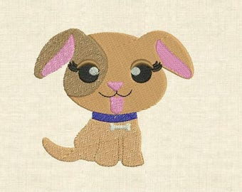 Machine embroidery design cute animals dog