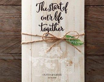 Wedding Invitation | Custom invitations | Unique invitations | Wedding stationery | Elegant invites | Rustic Invitations  -Rustic Woodlands
