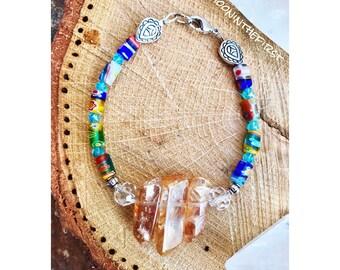 Tangerine Crystal Carnival Bracelet