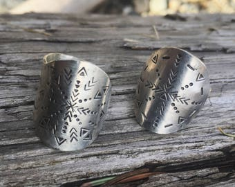The stamped mandala // mandala ring // hand stamped mandala // statement ring