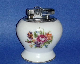 Antique BETSON'S Bone China Cigarette Lighter ~ Hand Painted  ~ Made in Japan