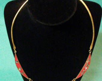 Vintage Taxco Alpaca Mexico Silver Red Necklace And Bracelet Set