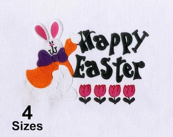Charmingly Celebrating Rabbit Easter Embroidery Design