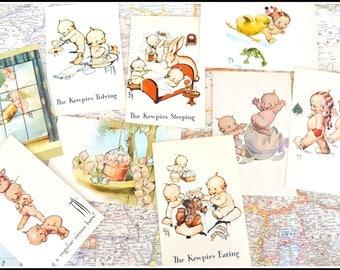 Unused Vintage Postcards -  Kewpie Doll Postcards 1972 Reproduction - Nine (9) Kewpie Post Cards