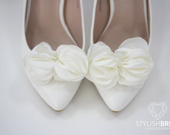 Shoe Clips, Silk Shoe Clips, Bridal Shoe Clips, Blossom Shoe Clips, Wedding Shoe Clips, Shoe Clips for Wedding Shoes