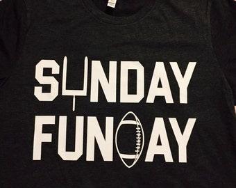 Sunday Funday Football Tee// 1.00 shipping all items