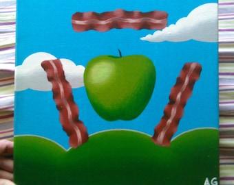 "Bacon Apples, 12x12"" canvas"