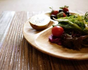 Handmade wooden plate