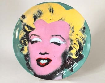 Marilyn Monroe plate by Andy Warhol