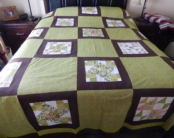 Unfinished Queen size Handmade Quilt ( 86 x 102 )