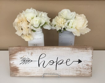 Hope - Rustic Style Wooden Sign