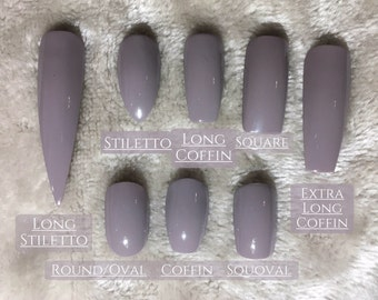 Clear Unpainted Press On Nails - ANY SHAPE & SIZE | Dreams Of Glory