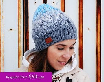 SALE -25% ||| Ombré Knit Hat | Gradient hat | Knit Beanie | Knit Cap | Winter Hat | Autumn Hat | Merino wool accessories