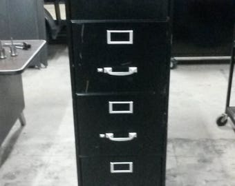 vintage filing cabinet 5 drawer letter size all metal filing cabinet vintage