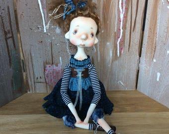 O.O.A.K. Art Doll Moppiedoll Jessica de Geus Nina