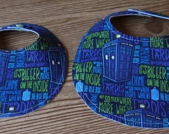 Doctor Who Baby Bib Dr. Who Tardis Baby Gift Newborn Shower Gift Nursery Accessory Tardis The Blue Box