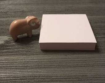 """3""""x3"""" Blank White Note Card. Small Blank White Note Card. Blank White Card Stock. C1S. Standard Bleach Stock Note Card."""