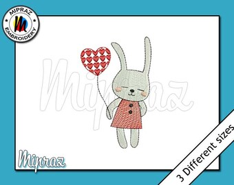 Embroidery Bunny, Little bunny Embroidery Design, Embroidery Rabbit, Embroidery Easter Bunny, Cute Bunny [Machine Embroidery Design]