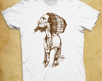 Bob Marley Graphic Sketch T-shirt Hand Drawn Illustration Tee