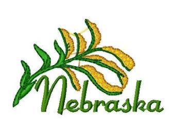 Buy 1 Take 1, Goldenrod Nebraska State Flower Embroidery Design, Instant Download, Various Formats
