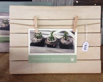 Rustic, white-washed photo board