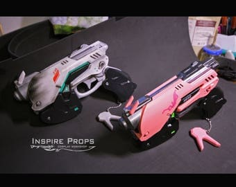 D.Va light gun (a few skins) high quality with bunny charm, Overwatch