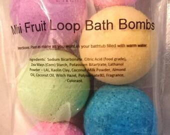 Mini Fruit Loop Bath Bombs