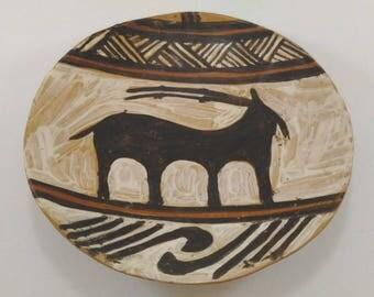 Romanian Cucuteni plate unique design handmade