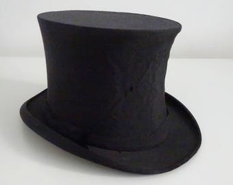 Lincoln Bennett Edwardian Collapsible Silk Opera Top Hat (Size 6 7/8) 56cm