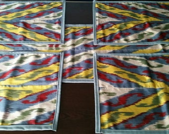Good quality silk ikat placemat set with a table runner