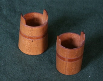 Pair of Miniature Wood Buckets
