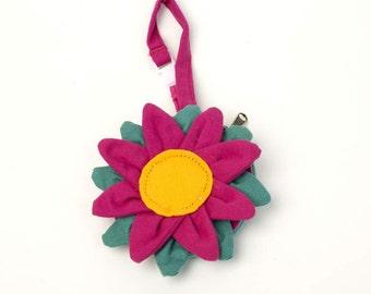 Flower Coin Wristlet - Pink