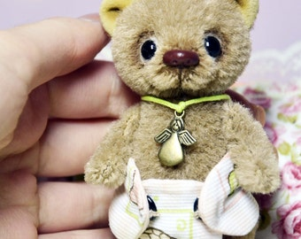 Miniature teddy bear artist toy stuffed small bear