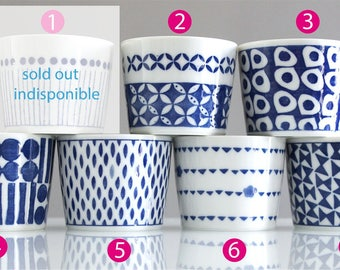 Teacup / mug graphic Blue (6 patterns)