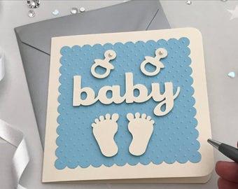 Baby boy new baby card
