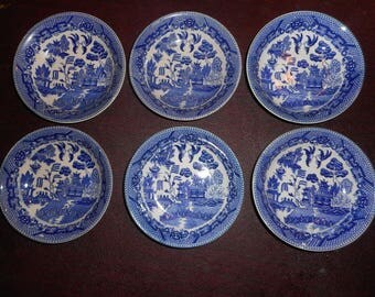VINTAGE BLUE WILLOW Berry Bowls Japan