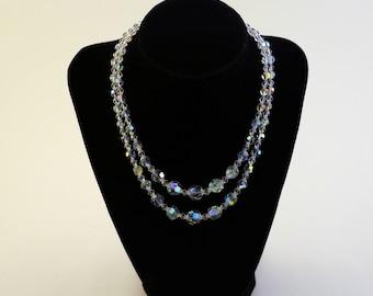 2 strand Aurora Borealis Necklace