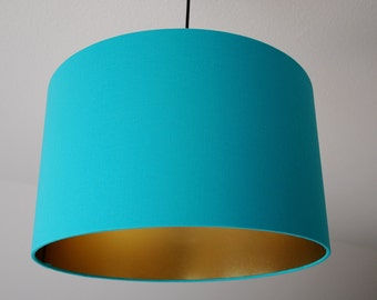"Lampshade ""Light petrol-gold"""