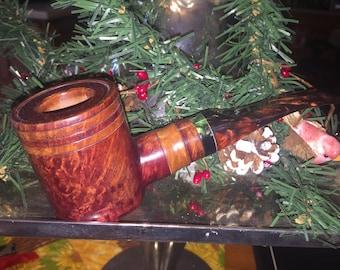 Smooth Slanted Poker Sitter, Wooden Smoking Pipe, Tobacco Pipe, Briar Pipe, Pipe, Smoking Pipe, Handmade Pipe