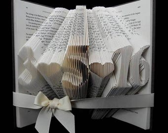 Personalized Anniversary Gift, Personalized Folded Book Sculpture Anniversary Gift, Personalized Anniversary Gift For Her, Gift For Him