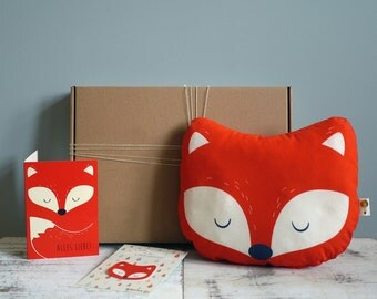 Gift set Fox bio: Pillows, patch, fold-out map