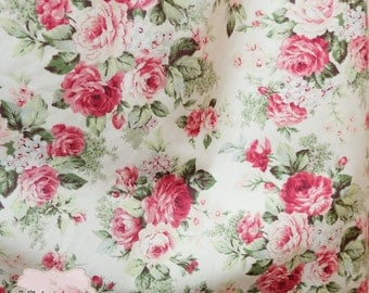 Pink Peony Floral Cotton Fabric Pink Peony Floral Fabric Sewing Fabric Floral Summer Fabric 100% Cotton Fabric For Craft