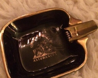Vintage with door cigarette ashtray