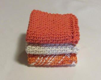 Dishcloths, Hand Knit Cloths, Face Cloth