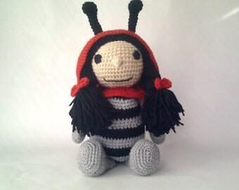 Ladybug Amigurumi Crochet Stuffed Toy Animal