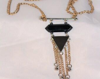 Long Art Deco Pendant Necklace