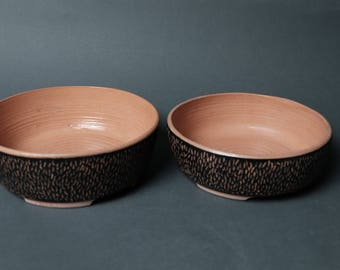 Set of 2 Handmade Ceramic Serving Bowls, Baking Dishes