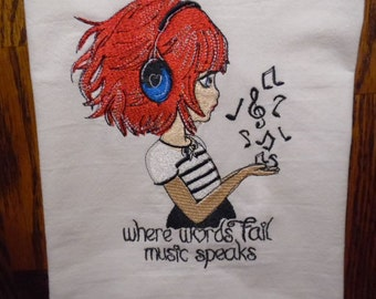 Kitchen Towel, Music, Hand Towel
