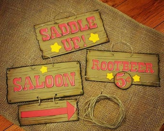 Western Birthday Party Signs for little Cowboy