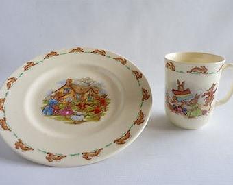 Royal Doulton Bunnykins - Plate and Mug